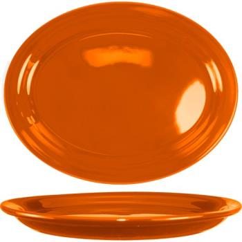 ITWCAN12O - ITI - CAN-12-O - 9 3/4 in x 7 in Cancun™ Orange Platter With Narrow Rim Product Image