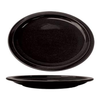 ITWCAN13B - ITI - CAN-13-B - 11 1/2 in x 9 1/4 in Cancun™ Black Platter With Narrow Rim Product Image