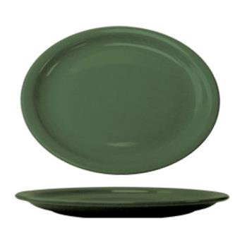ITWCAN13G - ITI - CAN-13-G - 11 1/2 in x 9 1/4 in Cancun™ Green Platter With Narrow Rim Product Image