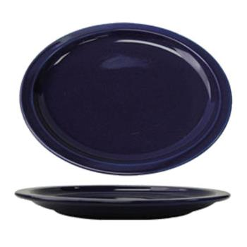 ITWCAN14CB - ITI - CAN-14-CB - 13 1/4 in x 10 3/8 in Cancun™ Cobalt Platter With Narrow Rim Product Image