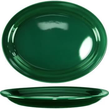 ITWCAN14G - ITI - CAN-14-G - 13 1/4 in x 10 3/8 in Cancun™ Green Platter With Narrow Rim Product Image