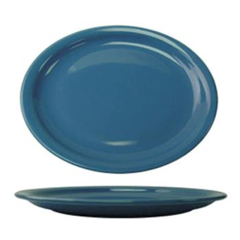 ITWCAN14LB - ITI - CAN-14-LB - 13 1/4 in x 10 3/8 in Cancun™ Light Blue Platter With Narrow Rim Product Image