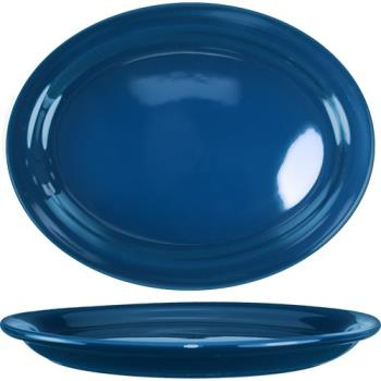 ITWCAN14LB - ITI - CAN-14-LB - 13 1/4 in x 10 3/8 in Cancun™ Light Blue Platter w/ Narrow Rim Product Image