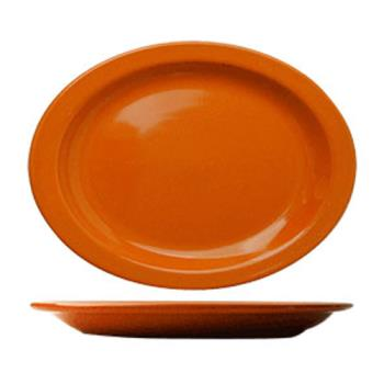 ITWCAN14O - ITI - CAN-14-O - 13 1/4 in x 10 3/8 in Cancun™ Orange Platter With Narrow Rim Product Image