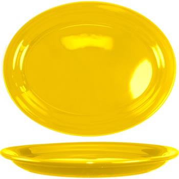 ITWCAN14Y - ITI - CAN-14-Y - 13 1/4 in x 10 3/8 in Cancun™ Yellow Platter With Narrow Rim Product Image