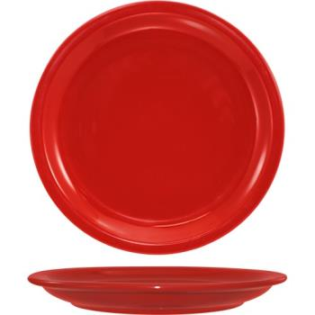 "ITWCAN16CR - ITI - CAN-16-CR - Cancun™ 10 1/2"" Crimson Red Plate w/Narrow Rim Product Image"
