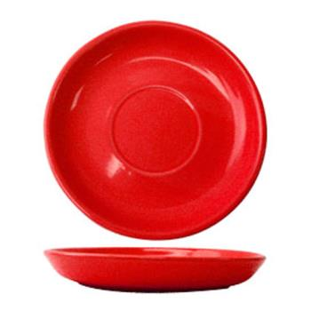 ITWCAN2CR - ITI - CAN-2-CR - 5 1/2 in Cancun™ Crimson Red Saucer With Narrow Rim Product Image
