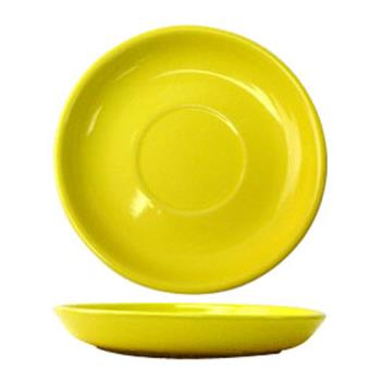 ITWCAN2Y - ITI - CAN-2-Y - 5 1/2 in Cancun™ Yellow Saucer With Narrow Rim Product Image