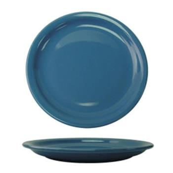 "ITWCAN8LB - ITI - CAN-8-LB - Cancun™ 9"" Light Blue Plate w/Narrow Rim Product Image"