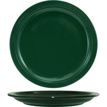"ITWCAN9G - ITI - CAN-9-G - Cancun™ 9 1/2"" Green Plate w/Narrow Rim Product Image"
