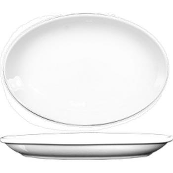 59128 - ITI - DO-14 - 13 1/4 in x 9 7/8 in Dover™ Porcelain Coupe Platter Product Image