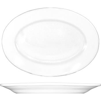 81358 - ITI - DO-81 - 9 3/8 in x 6 5/8 in Dover™ Porcelain Wide Rim Platter Product Image