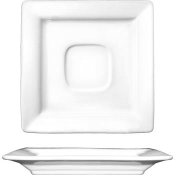 ITWEL2 - ITI - EL-2 - 5 7/8 in Elite™ Square Fine Porcelain Saucer With Well Product Image