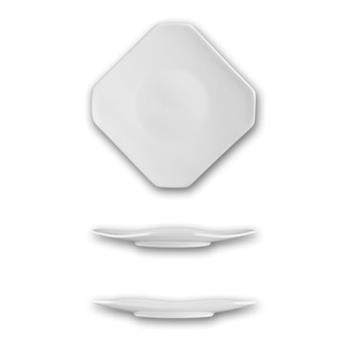 ITWHE16 - ITI - HE-16 - 10 5/8 in Helios™ Square Bone China Plate Product Image