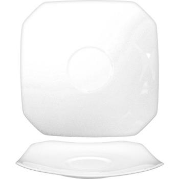 ITWHE2 - ITI - HE-2 - 6 1/4 in Helios™ Square Bone China Saucer Product Image