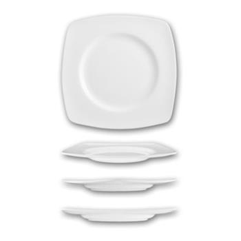ITWIS33 - ITI - IS-33 - 10 5/8 in Iris™ Bone Square China Plate With Well Product Image