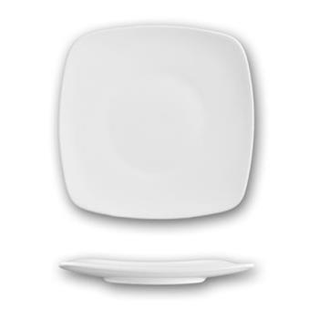 ITWIS6 - ITI - IS-6 - 6 3/8 in Iris™ Bone Square China Plate Product Image