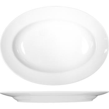 ITWPH12 - ITI - PH-12 - 10 3/8 in x 7 3/8 Phoenix™ Round Bone China Platter Product Image