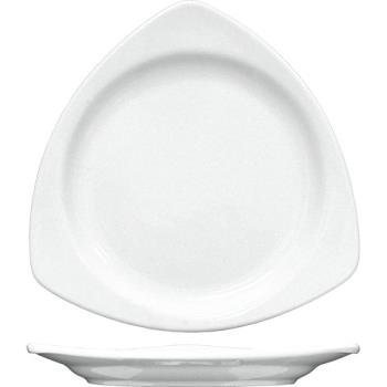 ITWTR10EW - ITI - TR-10-EW - 10 1/2 in Porcelain European White Triangular Plate Product Image