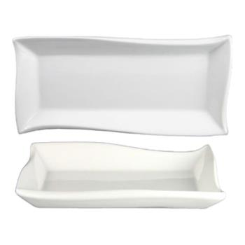 ITWWA16 - ITI - WA-16 - 9 3/4 in x 4 3/4 in Wave™ Rectangular Fine Porcelain Plate Product Image
