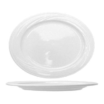 ITWAM14 - ITI - AM-14 - 13 in x 9 1/8 in Amsterdam™ Embossed Porcelain Platter Product Image