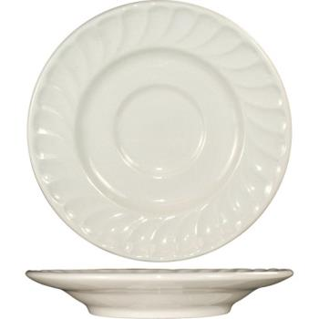 ITWHA6 - ITI - HA-6 - 6 in Saucer With Embossed Fluted Edge Product Image