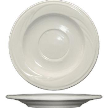 ITWY2 - ITI - Y-2 - 5 3/4 in York™ Embossed Saucer With Glazed Foot Product Image