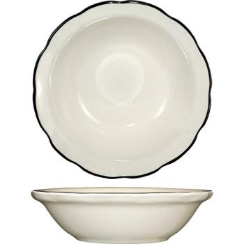 ITWSY11 - ITI - SY-11 - 4 3/4 Oz Sydney™ Fruit Bowl With Scalloped Edge and Black Band Product Image