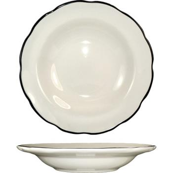 ITWSY3 - ITI - SY-3 - 10 1/2 Oz Sydney™ Soup Bowl With Scalloped Edge and Black Band Product Image