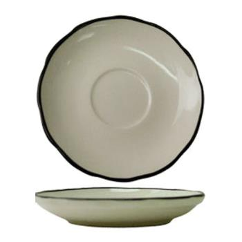 ITWSY2 - ITI - SY-2 - 5 3/4 in Saucer With Scalloped Edge and Black Band Product Image