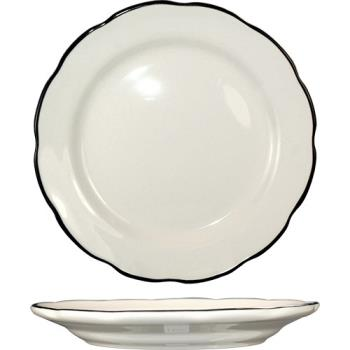 ITWSY6 - ITI - SY-6 - 6 3/8 in Sydney™ Plate With Scalloped Edge And Black Band Product Image
