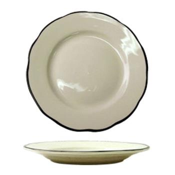 ITWSY9 - ITI - SY-9 - 9 7/8 in Sydney™ Plate With Scalloped Edge And Black Band Product Image