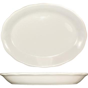 ITWVI12 - ITI - VI-12 - 9 7/8 in x 7 1/4 Platter With Scalloped Edge Product Image