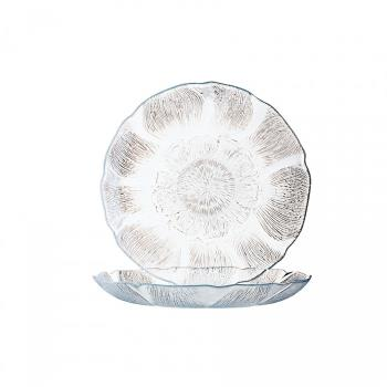 CRDJ0856 - Cardinal - J0856 - 9 in Fleur Glass Dinner Plate Product Image