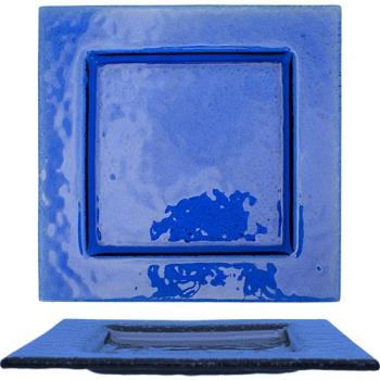 ITWIGPB8 - ITI - IGPB-8 - 8 in Arctic Glacier™ Square Blue Glass Dish Product Image