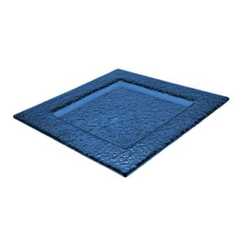 ITWIGPB4 - ITI - IGPB-4 - 4 in ArcticGlacier™ Square Blue Glass Dish Product Image
