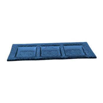 ITWIGPB311 - ITI - IGPB3-11 - 11 in x 4 1/2 Arctic Glacier™ Blue Glass Three Compartment Plate Product Image