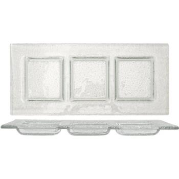 ITWIGPC311 - ITI - IGPC3-11 - 11 in x 4 1/2 Arctic Glacier™ Clear Glass 3 Compartment Plate Product Image