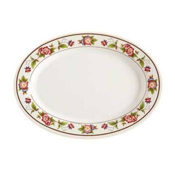 GETM4020TR - GET Enterprises - M-4020-TR - Tea Rose 14 in Oval Platter Product Image