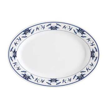 GETM4030B - GET Enterprises  - M-4030-B - Water Lily 12 1/4 in Oval Platter Product Image