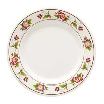 GETM5080TR - GET Enterprises - M-5080-TR - Tea Rose 9 1/2 in Wide Rim Plate Product Image