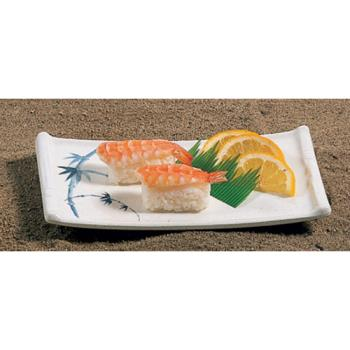 "THG0011BB - Thunder Group - 0011BB - 8 1/2 x 4 3/4"" Blue Bamboo Sashimi Platter Product Image"