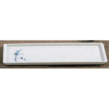 "THG0900BB - Thunder Group - 0900BB - 13 1/2"" x 4 3/4"" Blue Bamboo Sandwich Tray Product Image"