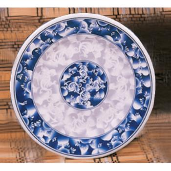 "THG1014DL - Thunder Group - 1014DL - 14 1/8"" Blue Dragon Round Plate Product Image"