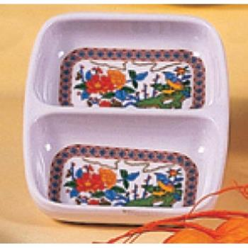 "THG1102TP - Thunder Group - 1102TP - 2 3/4"" X 3 3/8"" Peacock Twin Sauce Dish Product Image"