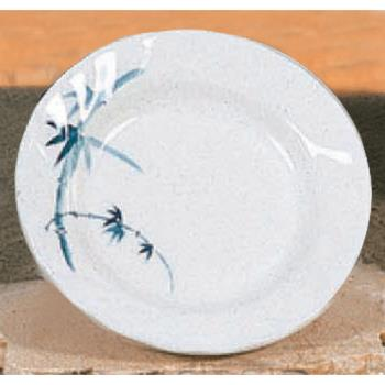 "THG1208BB - Thunder Group - 1208BB - 8"" Blue Bamboo Curved Rim Round Plate Product Image"