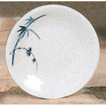 "THG1306BB - Thunder Group - 1306BB - 6 3/8"" Blue Bamboo Round Dinner Plate Product Image"