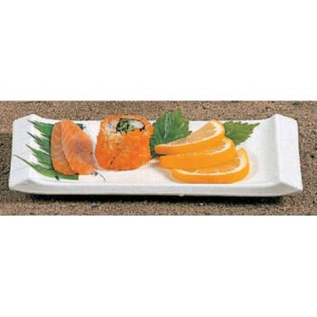 "THG1501BB - Thunder Group - 1501BB - 8 1/2"" x 3 3/4"" Blue Bamboo Vegetable Serving Plate Product Image"