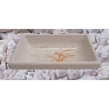 "THG1901GD - Thunder Group - 1901GD - 3 3/4"" Gold Orchid Square Sauce Dish Product Image"