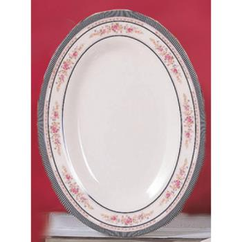 "THG2010AR - Thunder Group - 2010AR - 9 7/8"" x 7 1/4"" Rose Oval Platter Product Image"